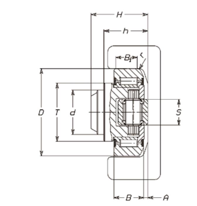 FARO 4.463 Adjustable Combined Bearing <p>(Eccentric Pin)</p>
