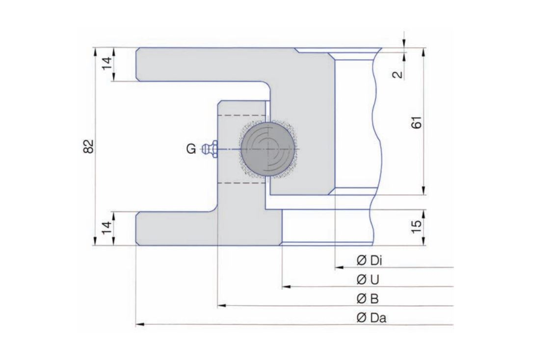 SERIE I.22.A/SD-T slew bearings
