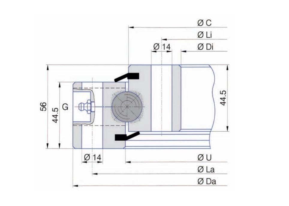 SERIE SD.20.B slew bearings