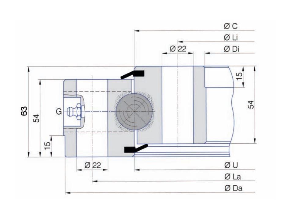 SERIE SD.25.B slew bearings