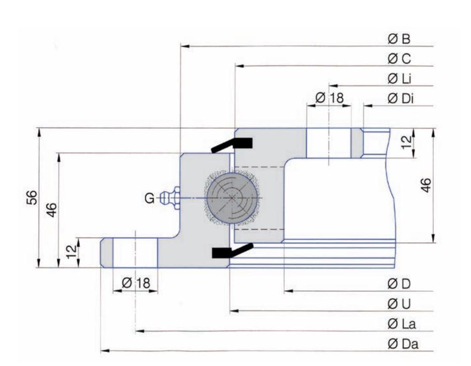 SERIE SD.20.C slew bearings