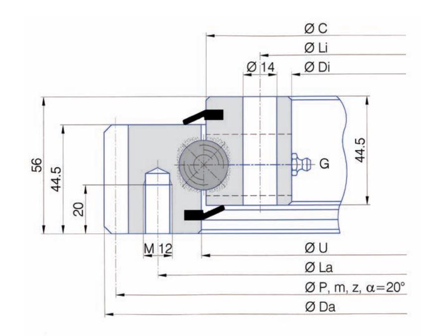 SERIE E.20.B slew bearings