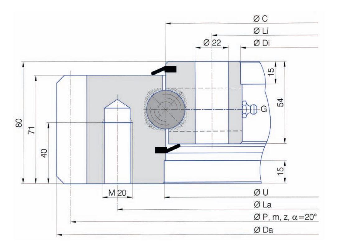 SERIE E.25.B slew bearings