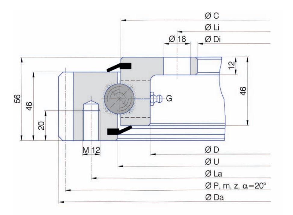 SERIE E.20.C slew bearings
