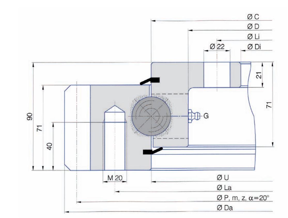 SERIE E.32.C slew bearings