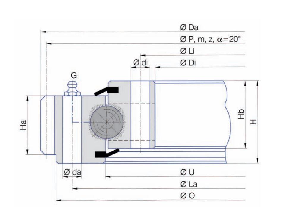 SERIE E.22.D slew bearings