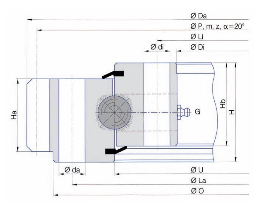 SERIE E.25.D slew bearings