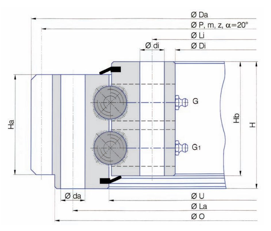 SERIE E.2.20-22-25.D Slew bearings