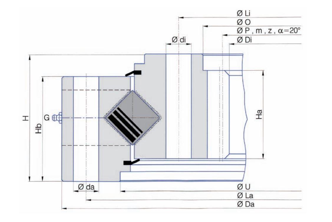 SERIE I.25-30-40-50.D-R slew bearings