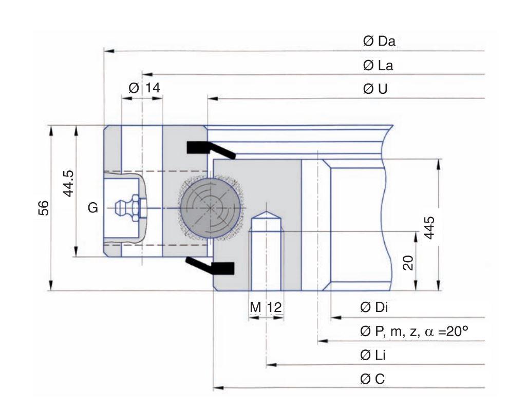 SERIE I.20.B slew bearings