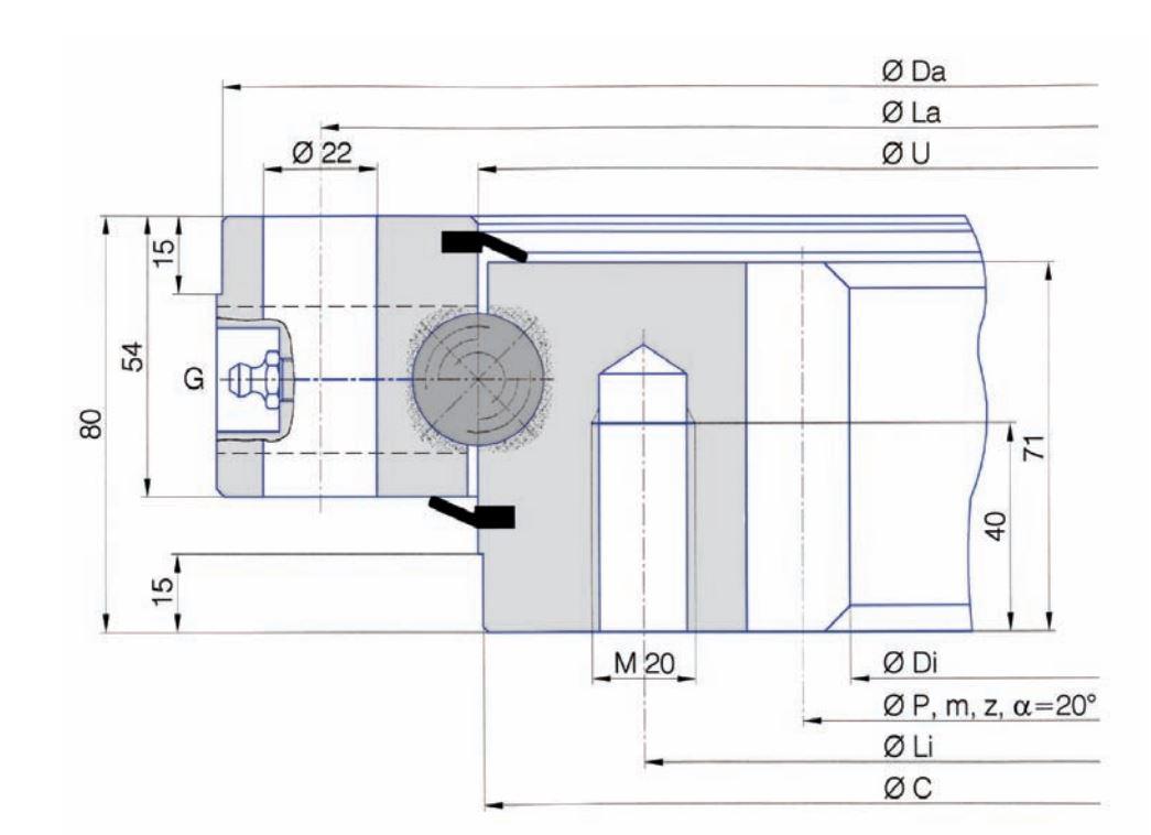 SERIE I.25.B slew bearings