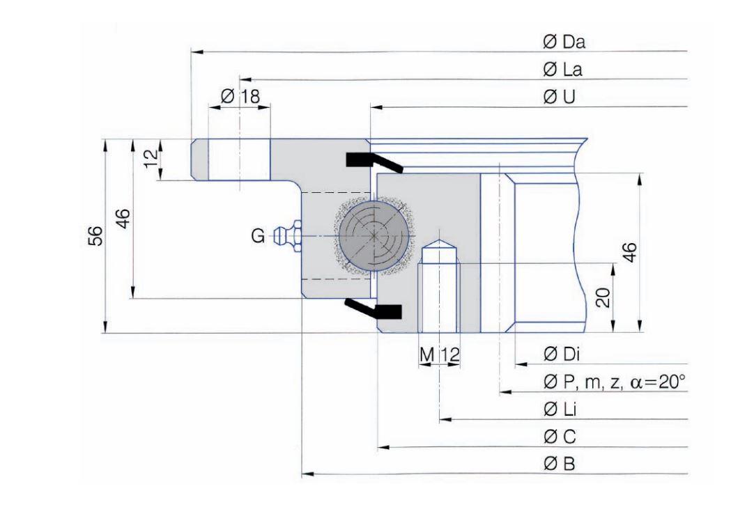 SERIE I.20.C slew bearings