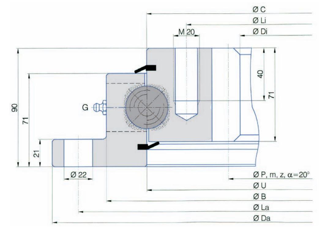 SERIE I.32.C slew bearings