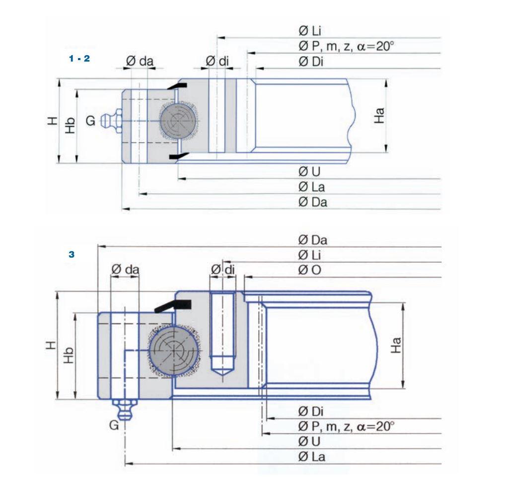 SERIE I.16-22.D slew bearings