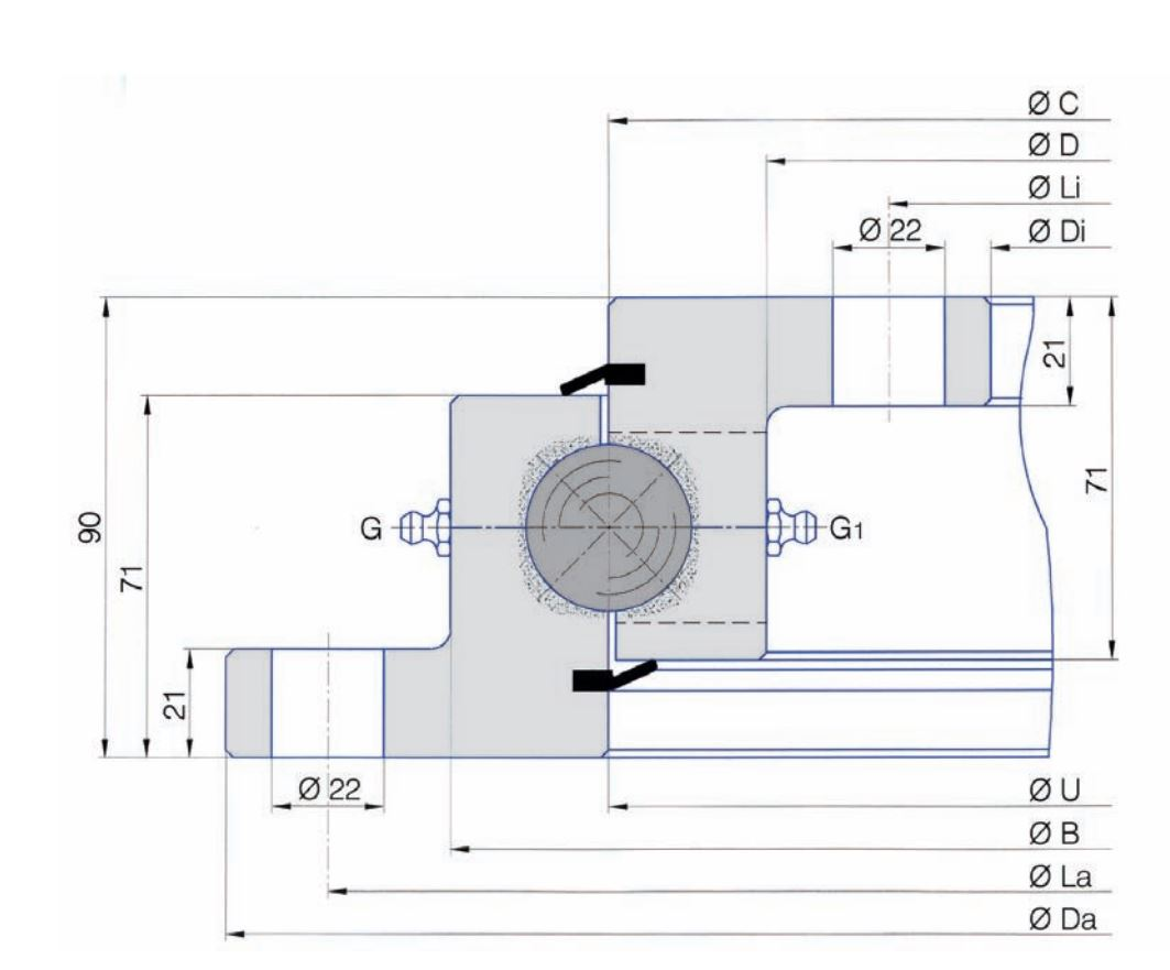 SERIE SD.32.C slew bearings