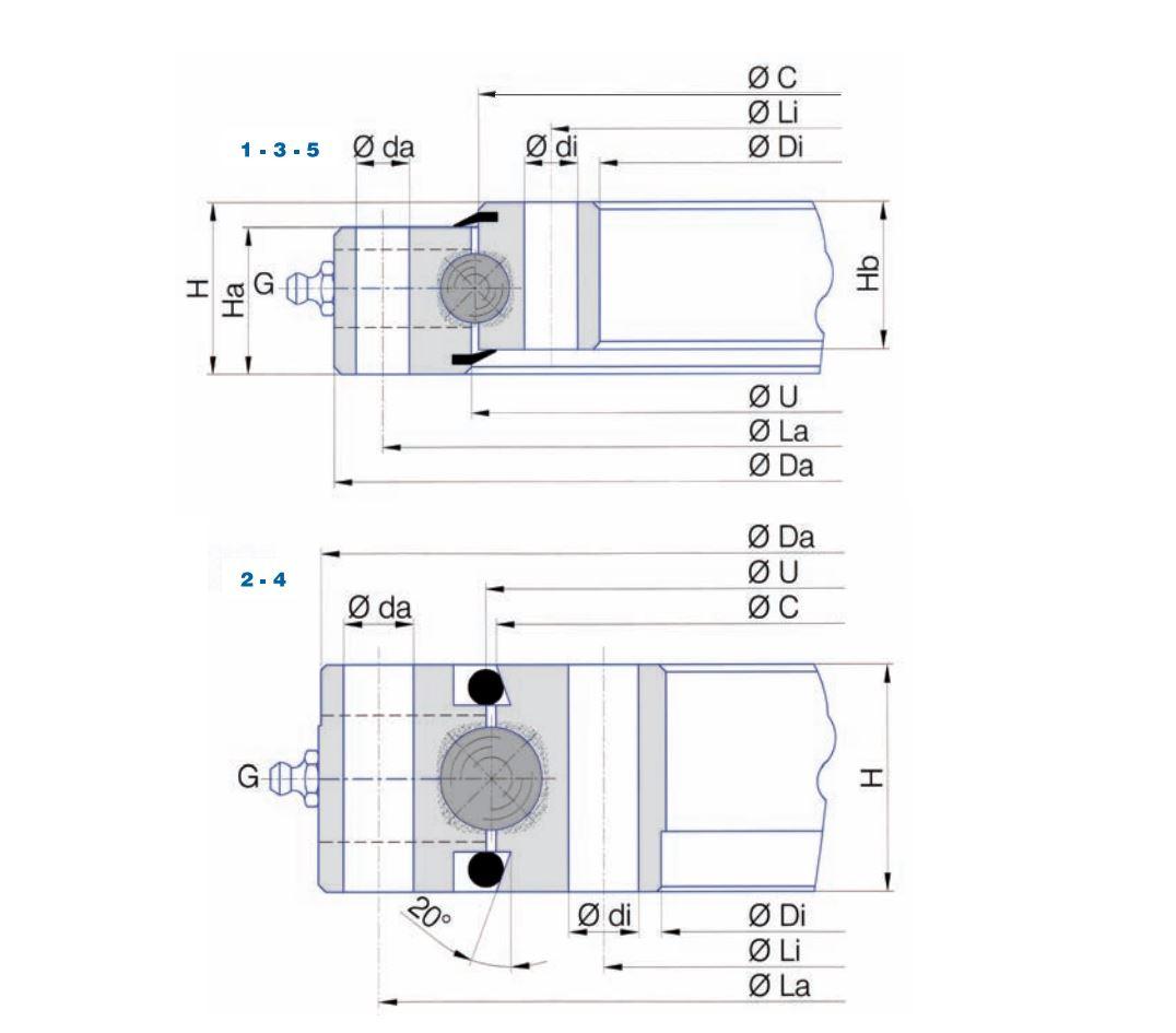 SD.14-20-25.D slew bearings